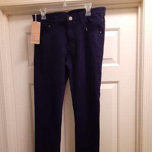 NITAGUT Blue Skinny Men's Jeans